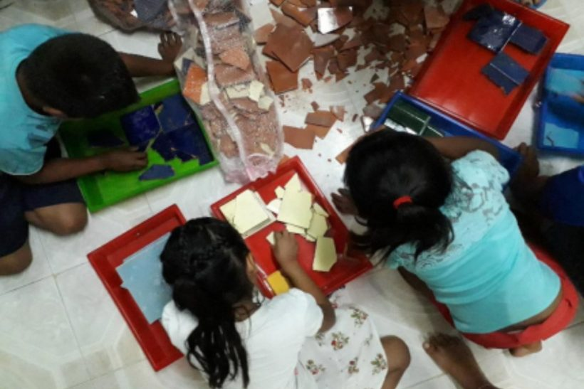 A project with a lot of heart: The mosaic of the school